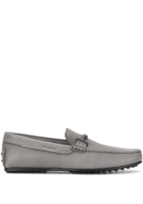 Tod's T logo loafers - Grey