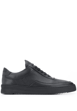 Filling Pieces leather low-top sneakers - Black