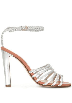 Francesco Russo caged heeled sandals - SILVER