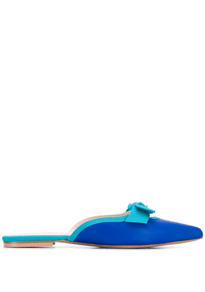 Anna Baiguera pointed toe mules - Blue