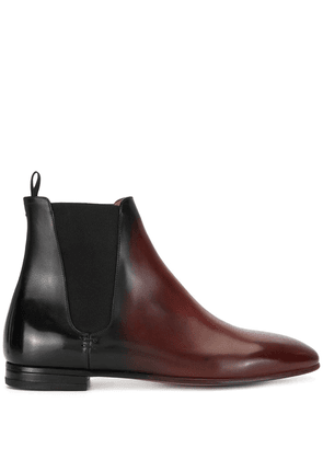 Francesco Russo two-tone ankle boots - Red