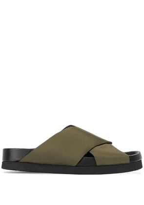 Co woven strap sandals - Green