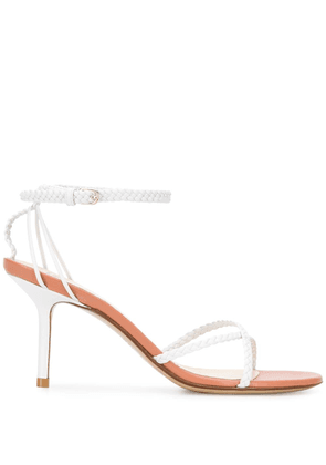 Francesco Russo braided straps 80mm sandals - White