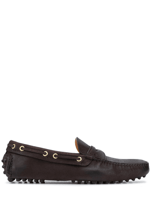 Car Shoe distressed driving loafers - Brown