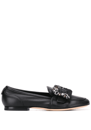 AGL buckled low heel loafers - Black