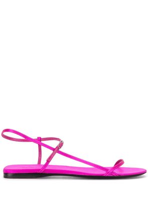 The Row Bare flat satin sandals - PINK