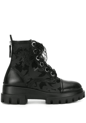 AGL chunky sole lace-up boots - Black