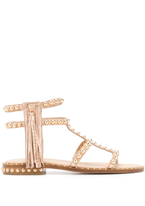 Ash open toe rounded stud sandals - PINK