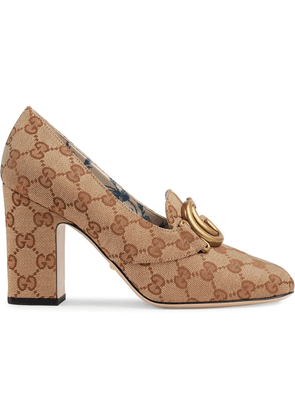 Gucci GG mid-heel pump with Double G - Neutrals