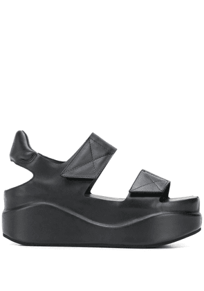 Del Carlo platform sole leather sandals - Black