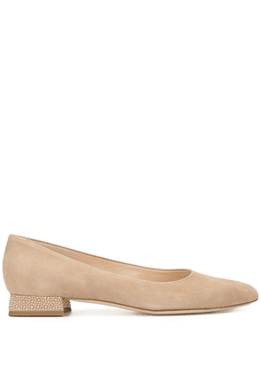AGL pointed low heeled pumps - PINK