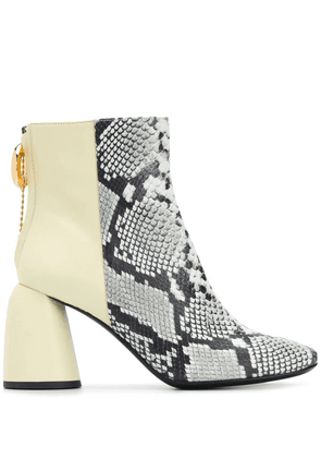Ellery Clemente 85mm ankle boots - Yellow