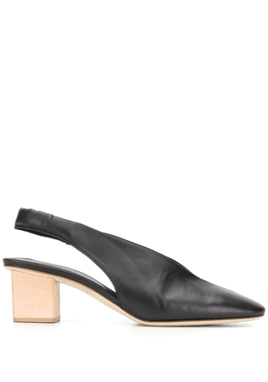 Del Carlo slingback 55mm leather pumps - Black