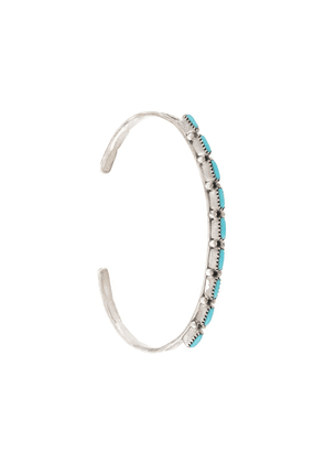 Jessie Western turquoise-encrusted bangle - SILVER