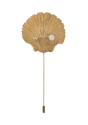 Atu Body Couture textured shell brooch - GOLD