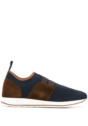 Eleventy low top panelled sneakers - Blue