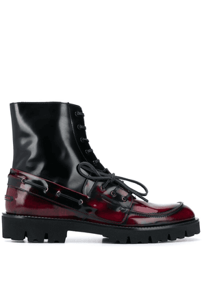 Maison Margiela lace-up leather ankle boots - Red