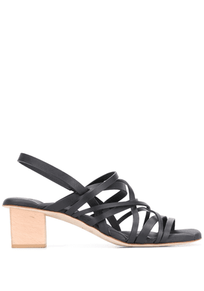 Del Carlo multi-strap block heel sandals - Black