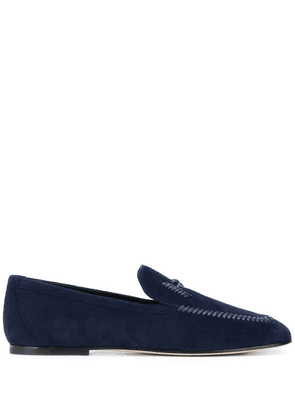 Tod's woven detail loafers - Blue