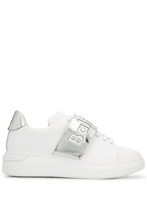 Baldinini touch-strap low-top sneakers - White