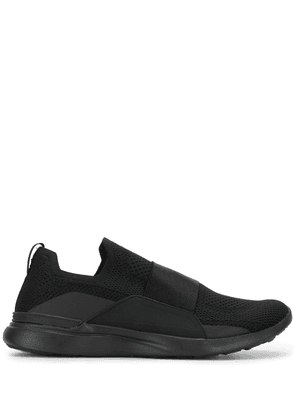 APL: ATHLETIC PROPULSION LABS knitted contrast panel sneakers - Black