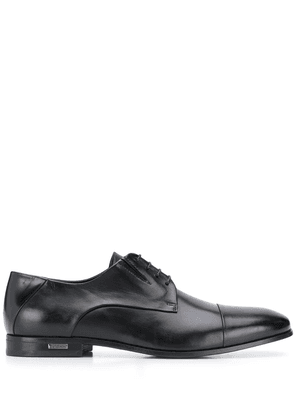 Baldinini glossy-finish pointed derby shoes - Black