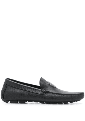 Baldinini logo plaque flat loafers - Black