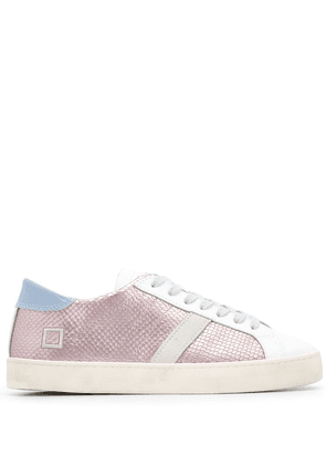 D.A.T.E. metallic-panelled lace-up sneakers - PINK