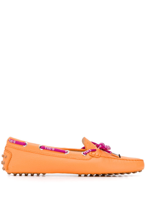 Tod's bow-detailed loafers - ORANGE