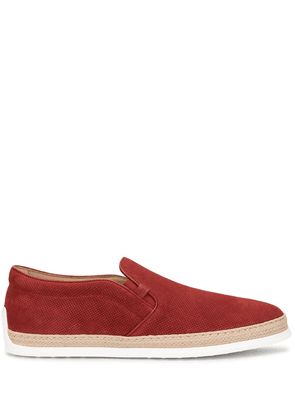 Tod's perforated espadrille sneakers - Red