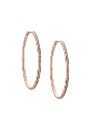 Eva Fehren 18kt rose gold medium Infinity diamond hoops