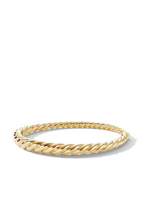 David Yurman 18kt yellow gold Pure Form Cable 6mm bracelet