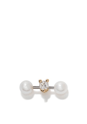 Delfina Delettrez 18kt yellow and white Two In One diamond and pearl