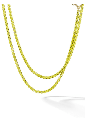 David Yurman 14kt yellow gold accented DY Bel Aire chain necklace -