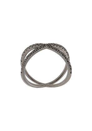 Eva Fehren 18kt white gold The Shorty diamond ring - Black