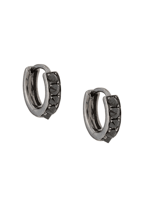 Eva Fehren 18kt white gold The Line diamond hoops - Black