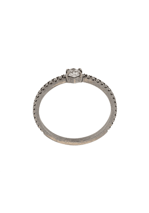 Eva Fehren 18kt white gold Nazca stacking ring - SILVER
