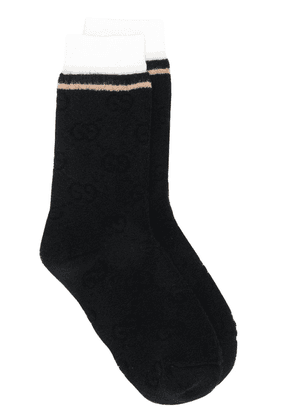 Gucci striped detail socks - Black