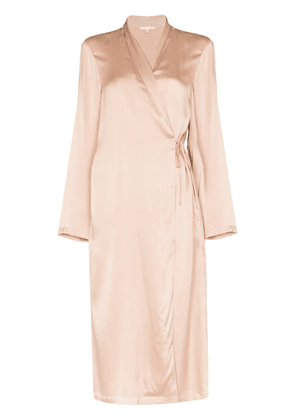 Skin Thea silk dressing gown - PINK