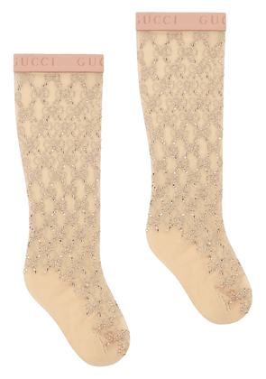 Gucci GG crystal-embellished socks - NEUTRALS