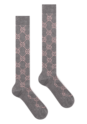 Gucci GG monogram socks - Grey