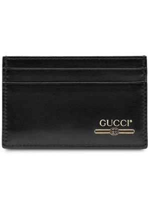 Gucci Leather card case with Gucci logo - Black