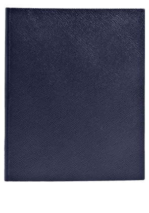 Smythson textured cover notebook - Blue