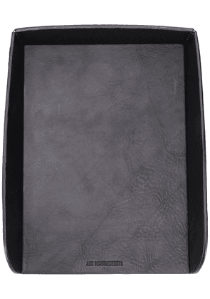 Ann Demeulemeester logo embossed document holder - Black