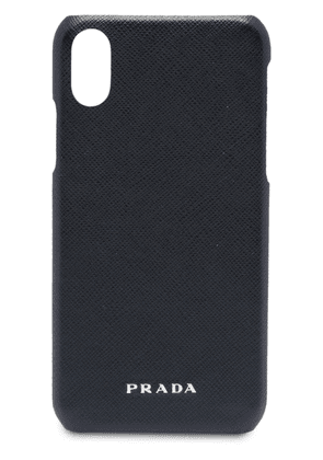 Prada leather iPhone X case - Black