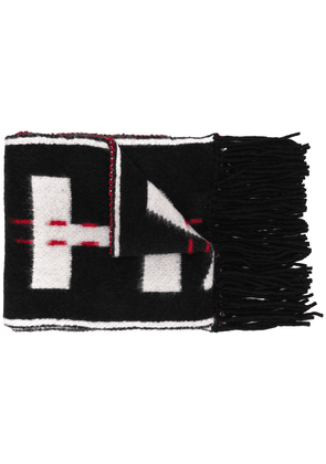 Off-White contrast logo scarf - Black