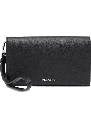 Prada Saffiano leather smartphone case - Black