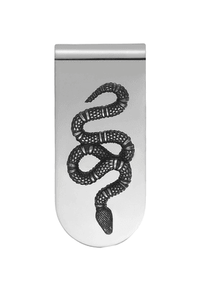Gucci Money clip with snake in silver - Metallic