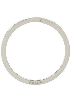 Prada engraved logo ring - SILVER
