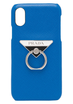 Prada Saffiano iPhone X cover - Blue
